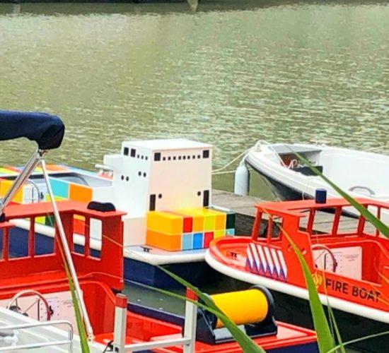 mini port bateaux enfants